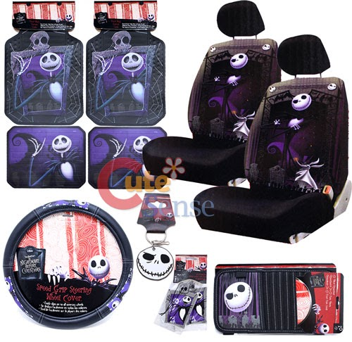 Nightmare Before Christmas Auto Accessories X Mas