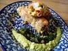 lentil sprout spring rolls with shrimp