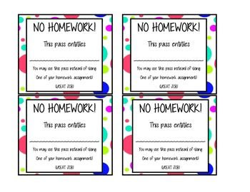1000+ images about homework passes on Pinterest   Set of ...