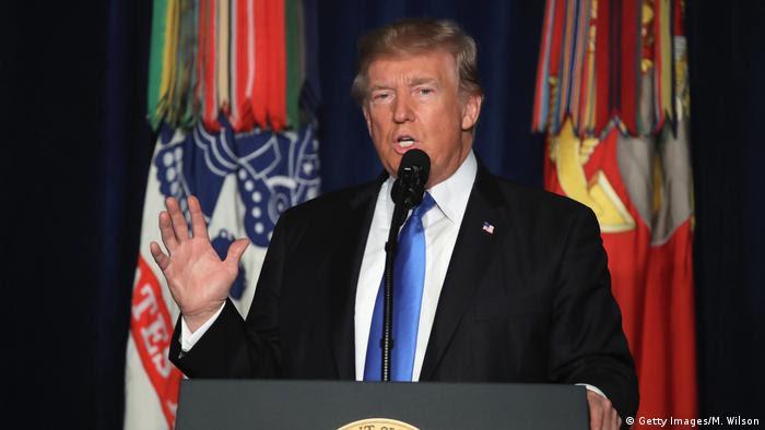 Donald Trump während Rede zur Afghanistan-Strategie (Getty Images/M. Wilson)