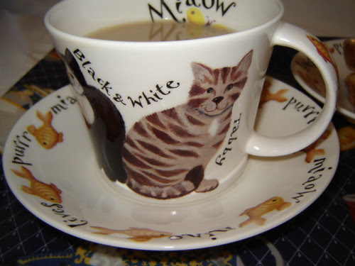 Cat lover's tea time by Anna Amnell