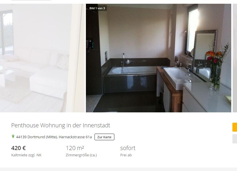 penthouse wohnung in der innenstadt 44139 dortmund mitte. Black Bedroom Furniture Sets. Home Design Ideas