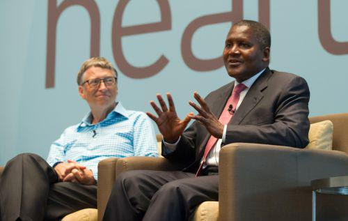 Image result for dangote and bill gates