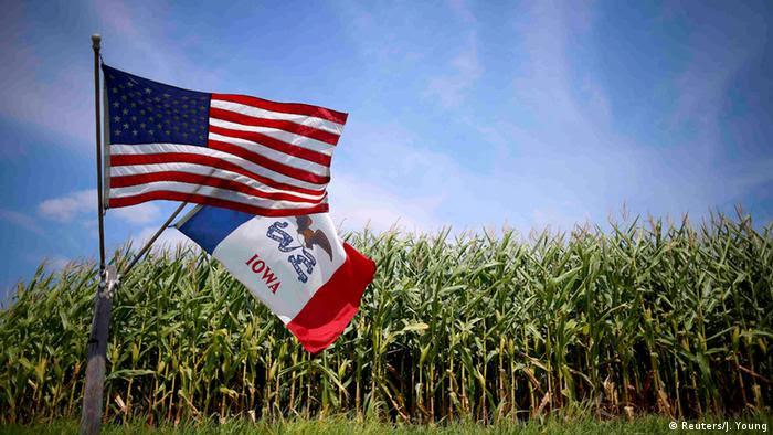 US Wahlen Symbolbild Flaggen (Reuters/J. Young)