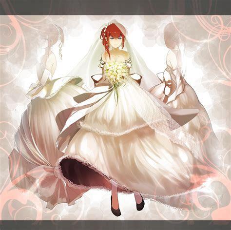 blue eyes redheads brides anime steinsgate makise kurisu