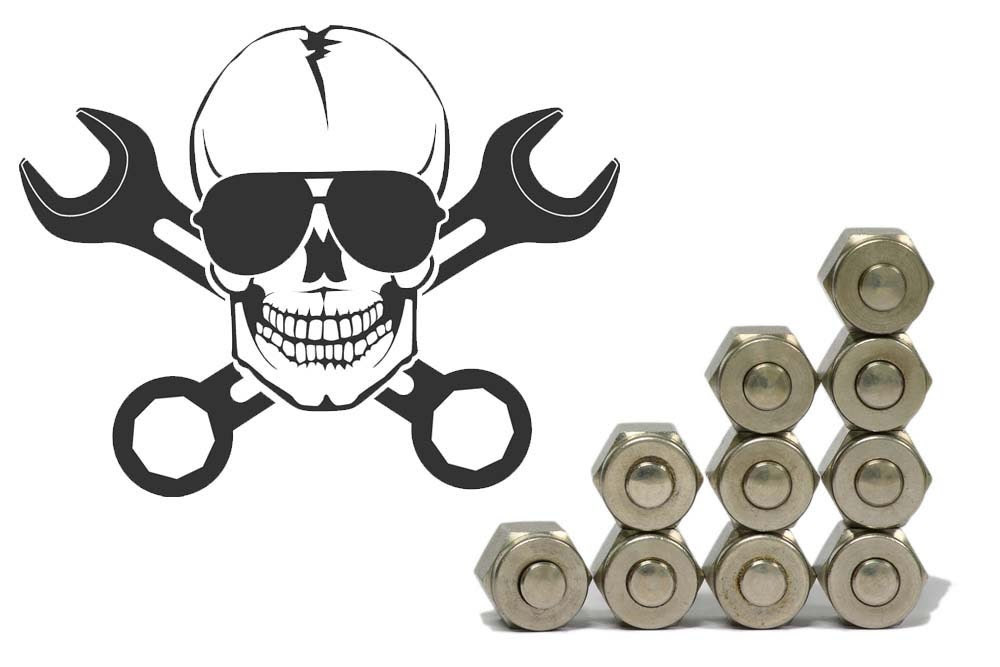 Mechanics Skull with Wrenches for by VinylWallAdornments on Etsy