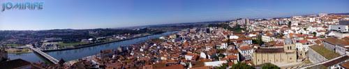Panorâmica sobre Coimbra vista da Universidade de Coimbra [en] Panoramic view over Coimbra in the University of Coimbra in Portugal