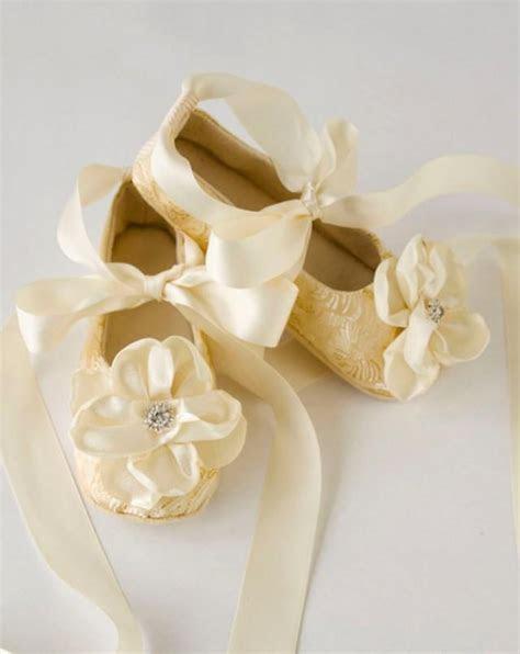 Gold Toddler Ballet Slippers   Flower Girl Shoes In Gold