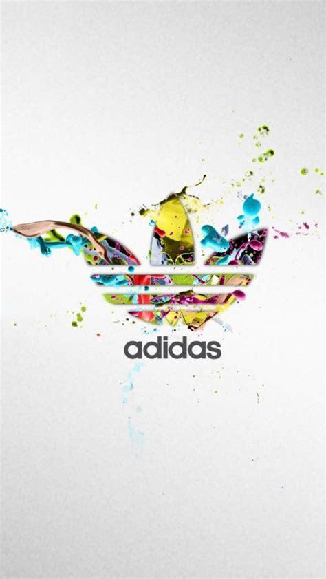 adidas colorful logo splash iphone   hd wallpaper hd