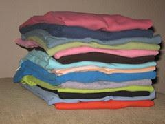stack o' t-shirts