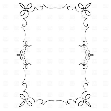 Decorative frame Vector Image of Borders and Frames