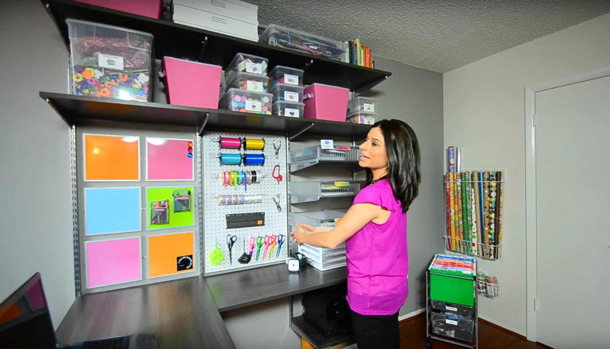 Here are just a few of her tips for organizing a home office.