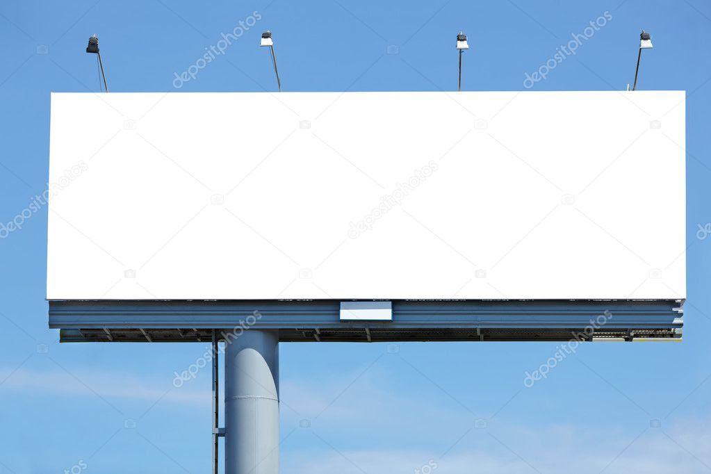 Blank billboard — Stock Photo © Kuzmafoto #6674252