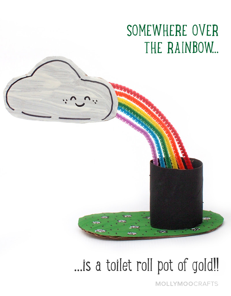 st patrick's day craft- Make a Pot of Gold and Rainbow!