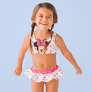 Minnie Mouse Swimsuit for Toddler Girls -- 2-Pc.