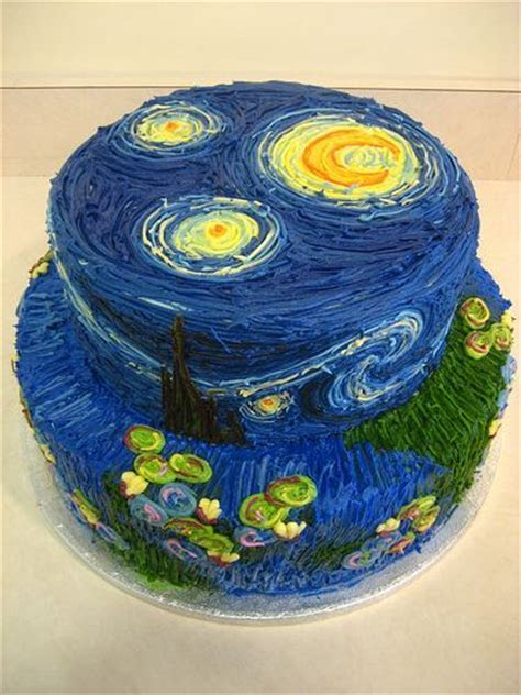 Starry nights, Vincent van Gogh and Cakes on Pinterest