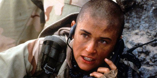 Demi Moore as GI Jane | Tacky Harper's Cryptic Clues