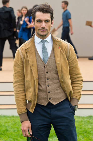 David Gandy - Arrivals at the Burberry Mens Runway Show — Part 2