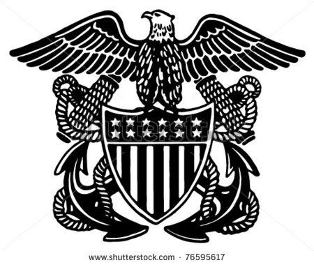 navy eagle clipart 2