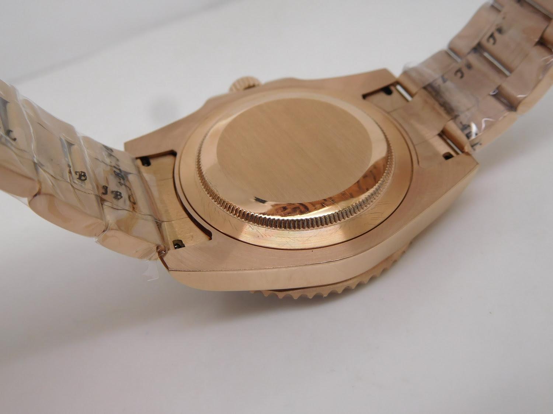 Replica Rolex GMT Master II Rose Gold Case Back