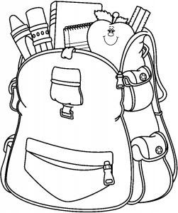 School Bag Coloring Pages At Getdrawingscom Free For Personal Use
