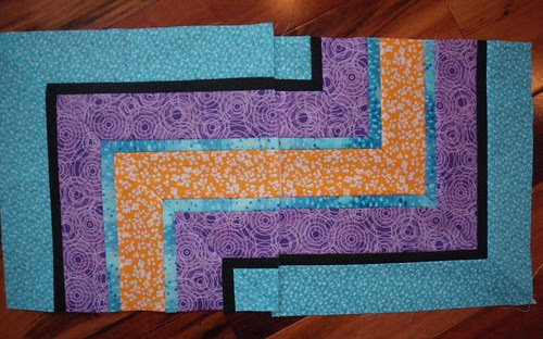 Aqua and Orange Blocks for Kristina