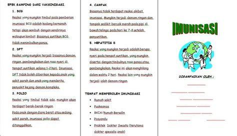 leaflet imunisasi ners community