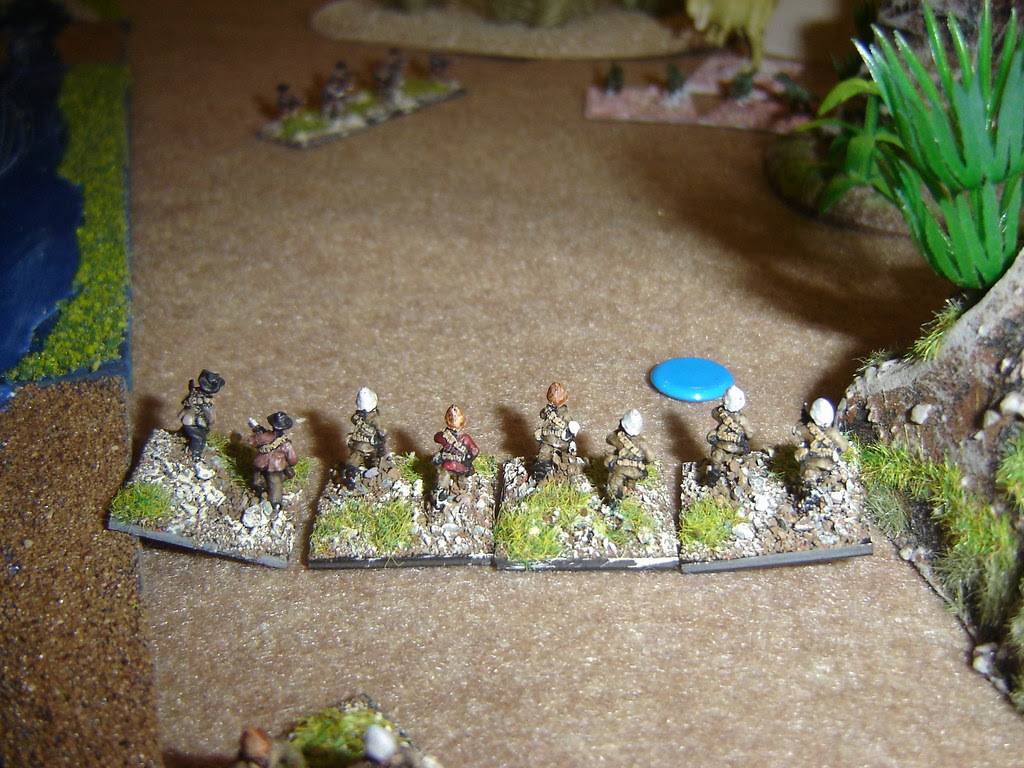British Relief dismount and form firing line