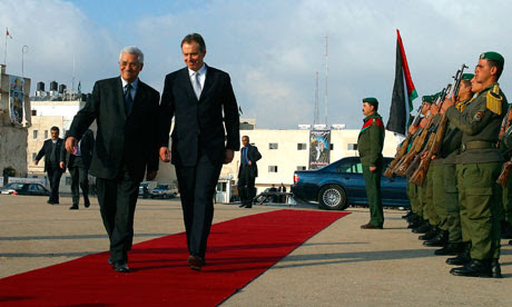 Tony Blair Visits Palestinian West Bank