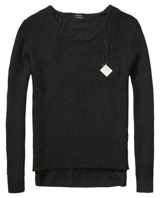Maison Scotch 2-in-1 Knitted Top