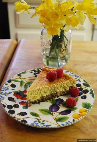 tea and honey cheesecake