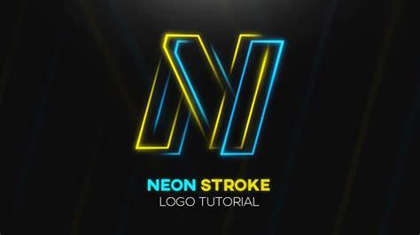 tutorial neon stroke logo design photoshop cc