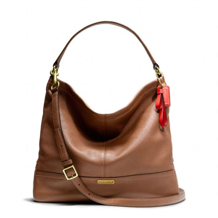 Coach shoulder bag. Park Leather Hobo in Brass/British Tan