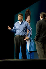 """James Barrese and Jonathan Schwartz, General Session """"Java: Change (Y)Our World"""" on June 2, JavaOne 2009 San Francisco"""