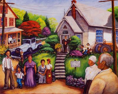 Country Church Service Art Print