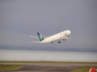Air New Zealand Boeing B767 taking off at Auckland International