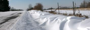 snow drifts the winter wonderland