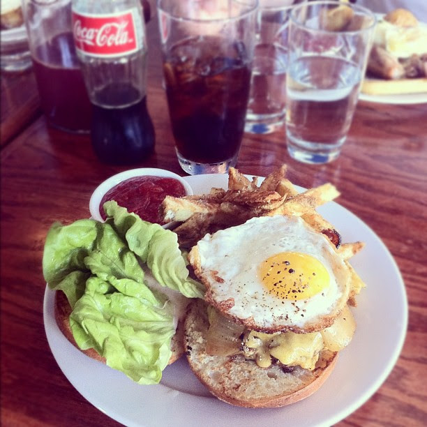 brunch burger at beast and the hare