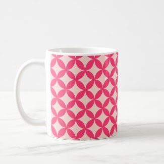 Sweet Pink Pattern Mugs