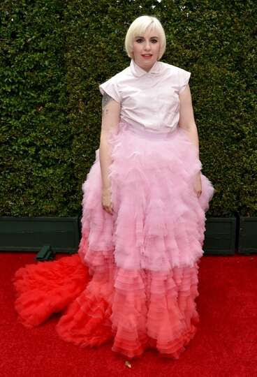 Worst: Oh, Lena Dunham. We love your red-carpet risk taking, but this gown, with its ill-fitt