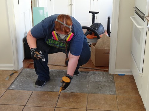 Starting the tile removal