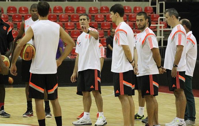 Basquete Flamengo treino (Foto: Gilvan de Souza / Flamengo)