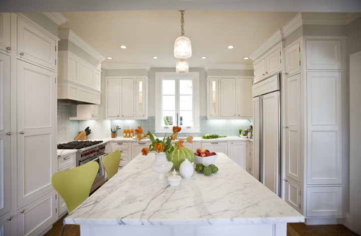 Green Bar Stools - Contemporary - kitchen - Massucco Warner Miller