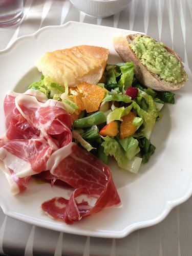 lunch - super salad and pata negra