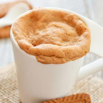 4 Ingredient Cookie Butter Mug Cake - Kirbie's Cravings