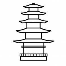 五重塔シルエット イラストの無料ダウンロードサイトシルエットac