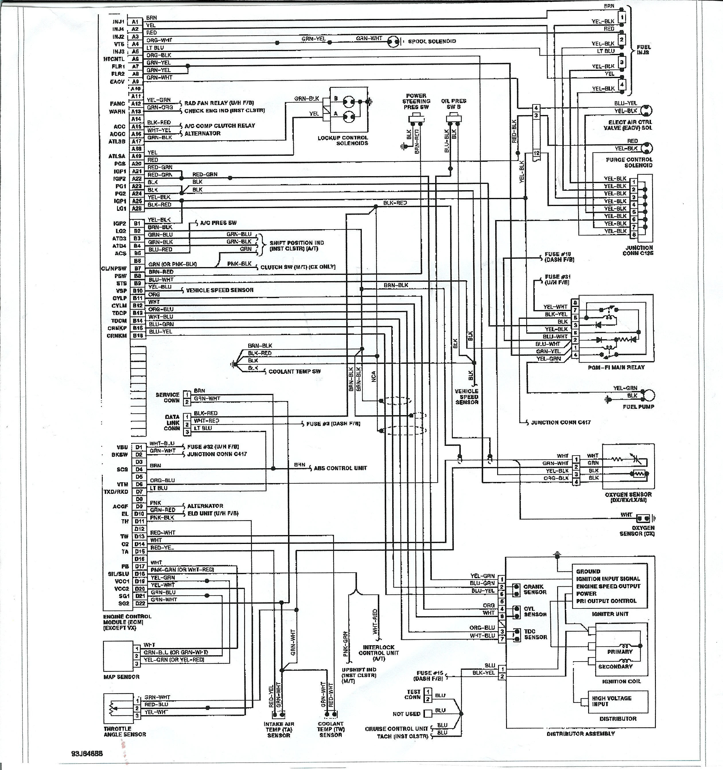 96 honda accord engine diagram