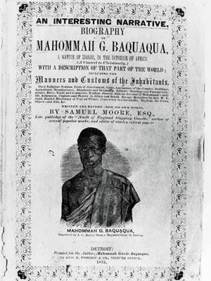 Capa da autobiografia de Baquaqua, ditada a Samuel Moore (Foto: Reprodução)