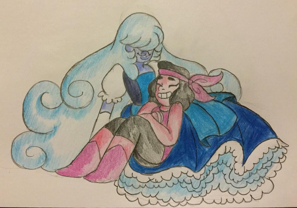 MORE OF THE RUBY AND SAPPHIRE! Steven Universe (c) Rebecca Sugar