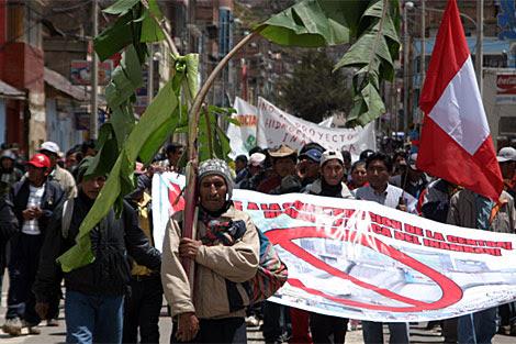 Protestas contra el proyecto Inambari. | La República